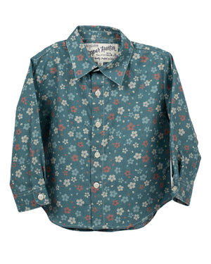 Long Sleeve Shirt | Blue Wildflowers