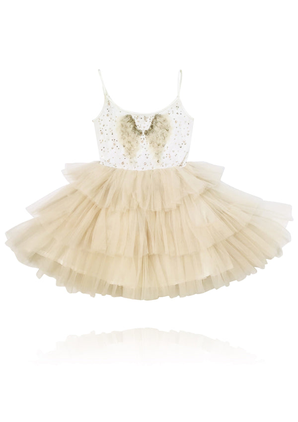 DOLLY by Le Petit Tom ® THE COFFEE ANGEL tutu dress coffee - DOLLY by Le Petit Tom ®