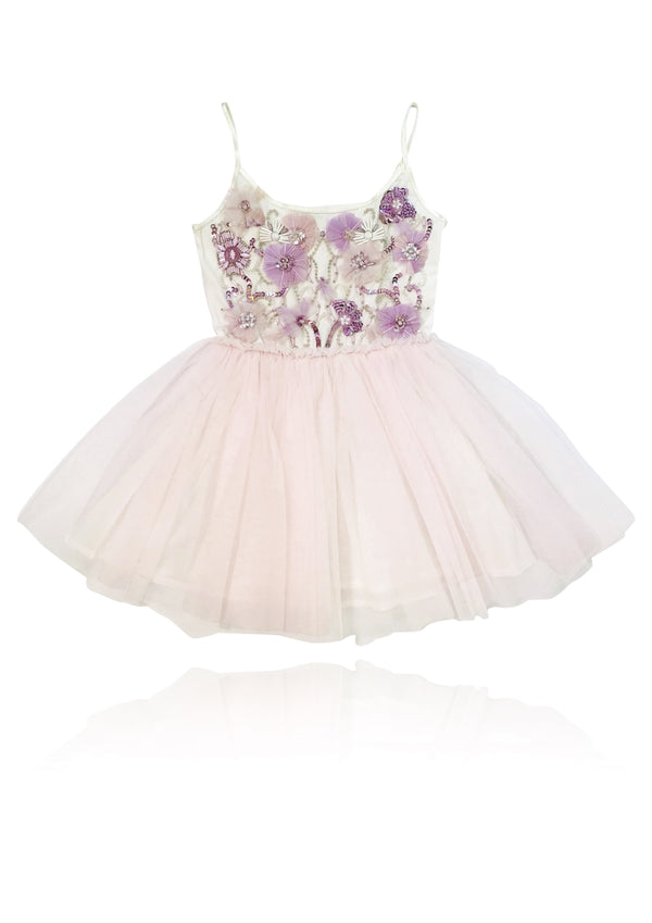 DOLLY by Le Petit Tom ® THE FEATHER PLUM ANGEL tutu dress baby pink/ plum - DOLLY by Le Petit Tom ®