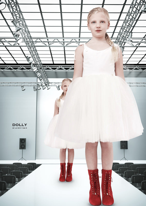 DOLLY by Le Petit Tom ® VELVET SABRINA TUTU dress off-white - DOLLY by Le Petit Tom ®
