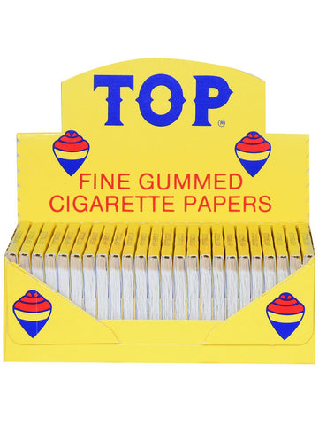 TOP FINE GUMMED CIGARETTE ROLLING PAPERS 24 BOOKS OF 100 LEAVES - Green Caviar Club