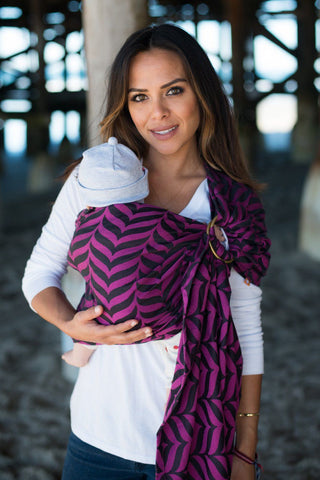Migaloo Raspberry - Cotton Ring Sling