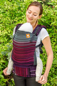 Half Toddler Wrap Conversion Carrier - Midnight Snack Cuervo Wrap Conversion - Baby Tula