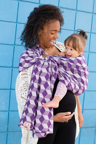 Hexahedron Haze - Cotton Ring Sling