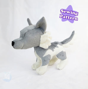 Wolf Plushie Sewing Pattern PDF