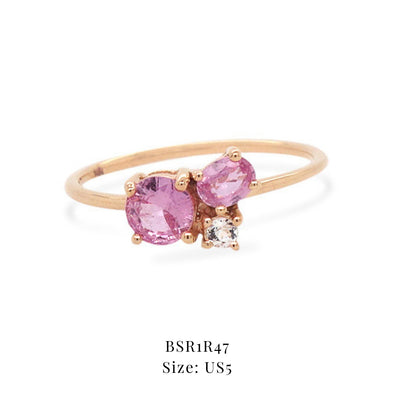 Blush Skies Ring - Pink and White Sapphires