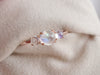 Trio Ring with Moonstones - 14K Rose Gold