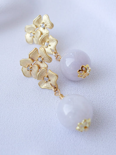 Lavender Jade Earrings #9