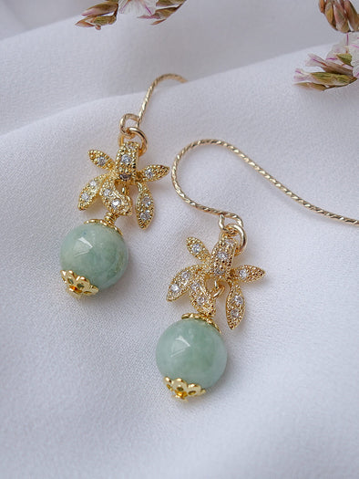 Green Jade Earrings #4