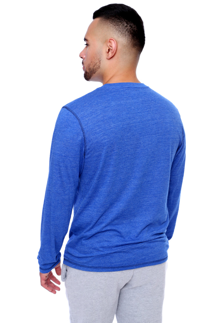 Royal Blue Long Sleeve Tee Back View