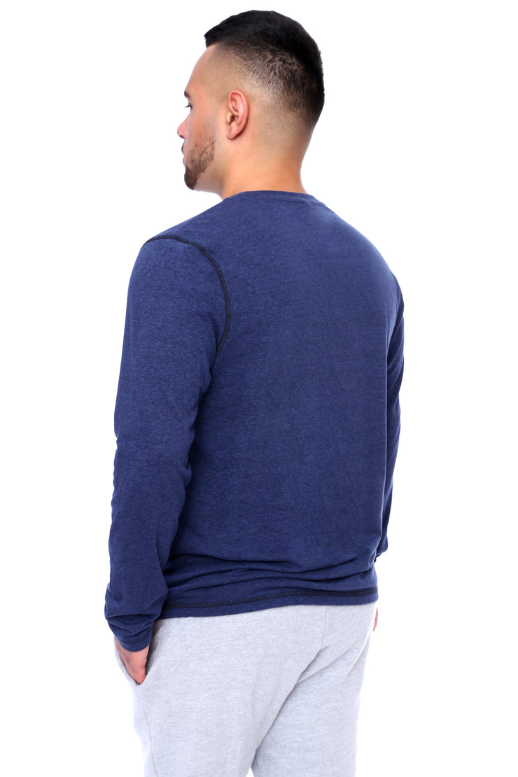 Navy Long Sleeve Tee Back View
