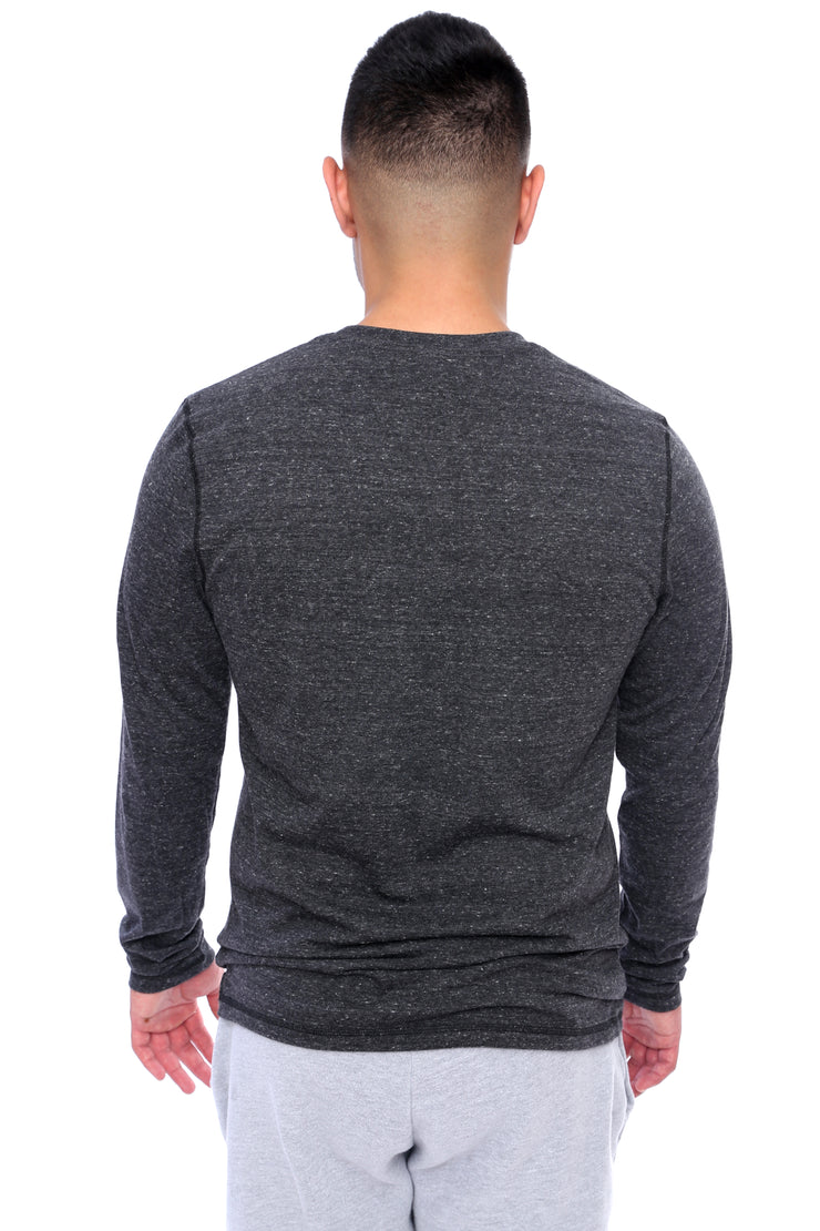 Charcoal Grey Long Sleeve Tee Back View