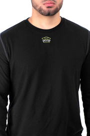 Black Long Sleeve Tee Detail View