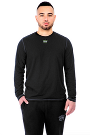 Black Long Sleeve Tee Model View