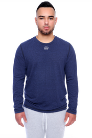 Navy Long Sleeve Tee Model View
