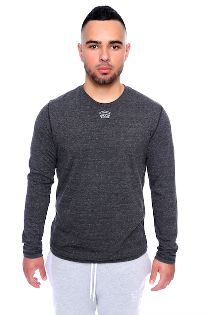 Charcoal Grey Long Sleeve Tee Model View