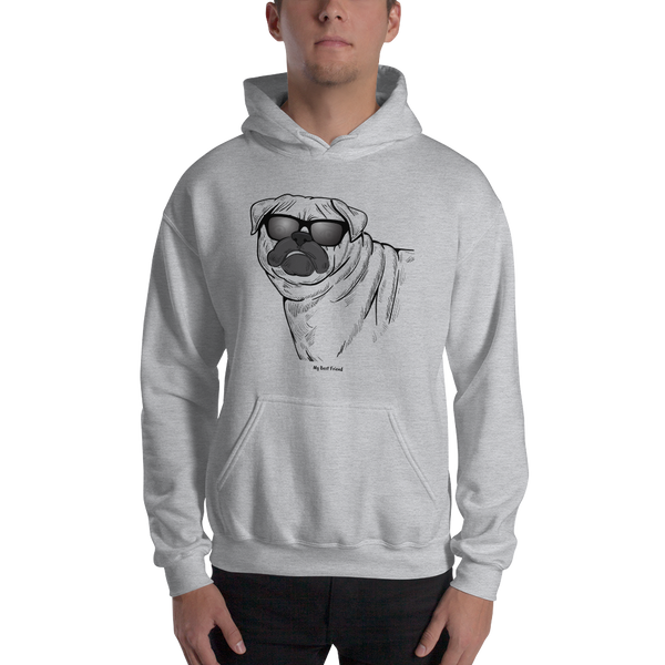 Pug- Unisex Heavy Blend Hooded Sweatshirt