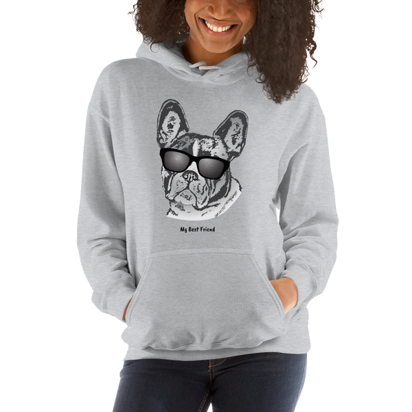 French Bulldog - Unisex Heavy Blend Hooded Sweatshirt