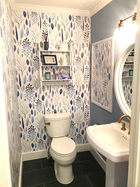 Coastal bathroom wallpaper