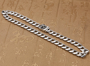 Cross thick chain necklace S925 sterling silver short paragraph big brand wind neck chain high-grade - QJ jewelry