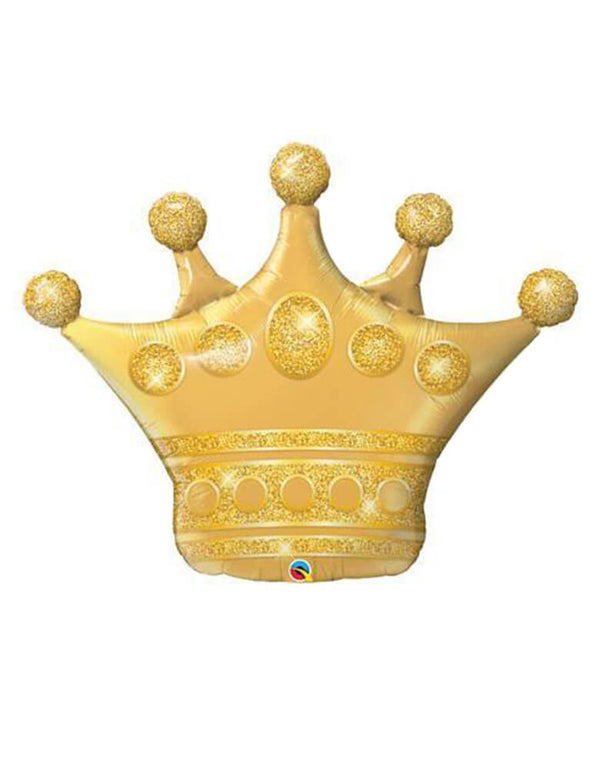 41'-GOLDEN-CROWN-Foil-Mylar-Balloon