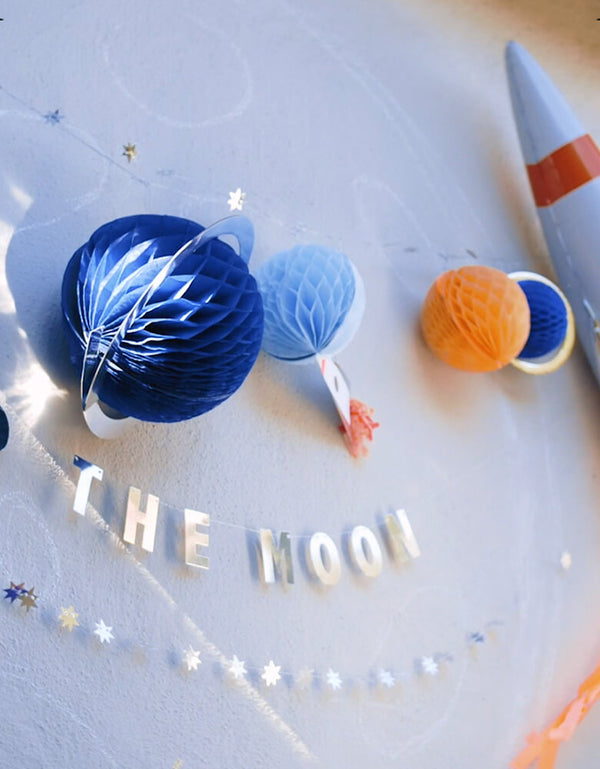 Close up of To The Moon Garland