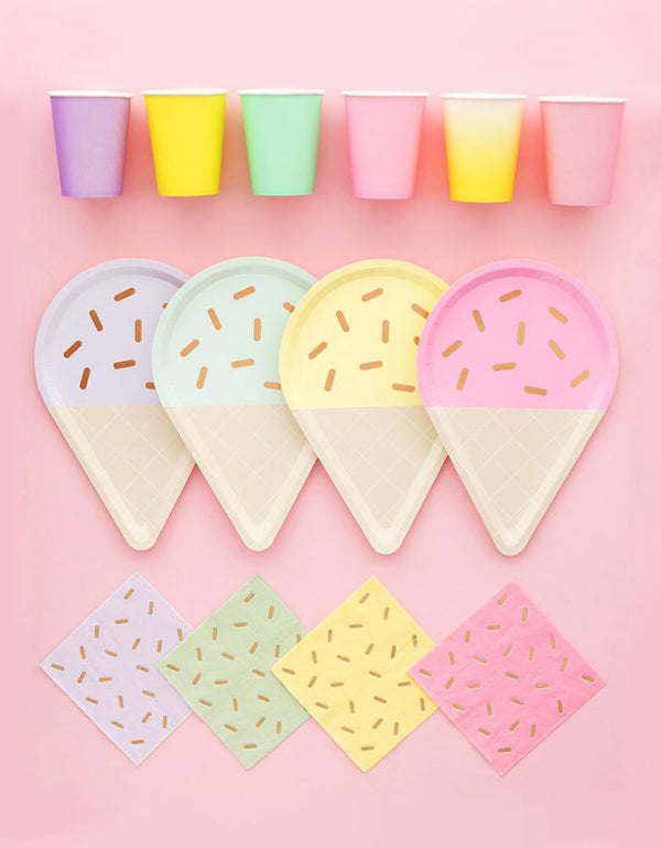 Oh Happy Day_Gelato-Ice-Cream-Large-Plates_Ice Cream Themed Party Supplies