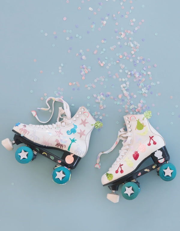 Roller Skate with Glitter Stickers