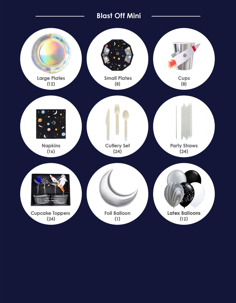 Product list of boys' space theme birthday party box