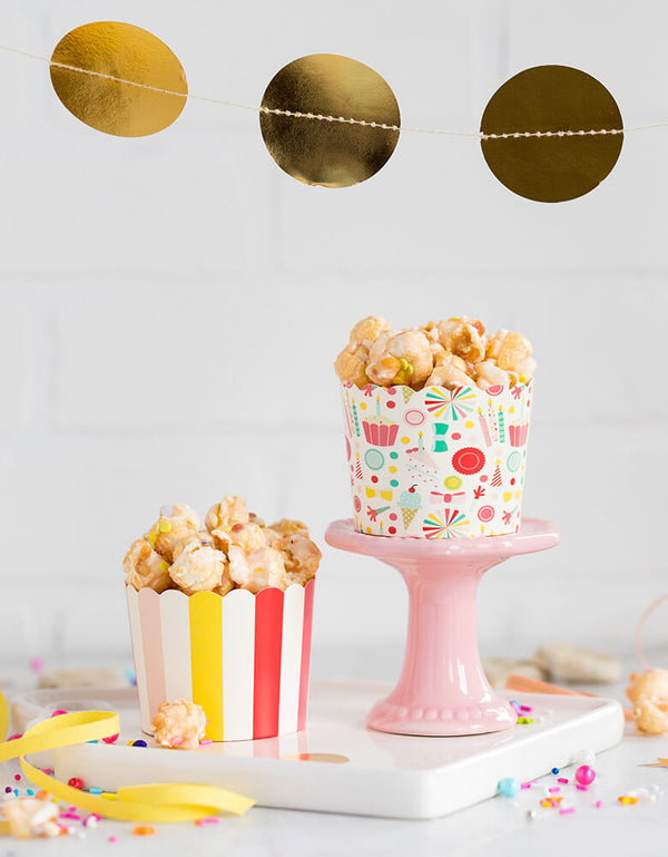 My Minds Eye baking cups filled with popcorn