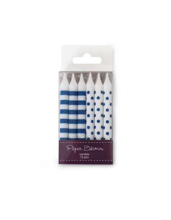 PaperEskimo Birthday Candles Navy Blue Floss