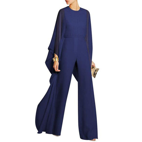 Hollow Out Chiffon Wide-Leg Jumpsuit
