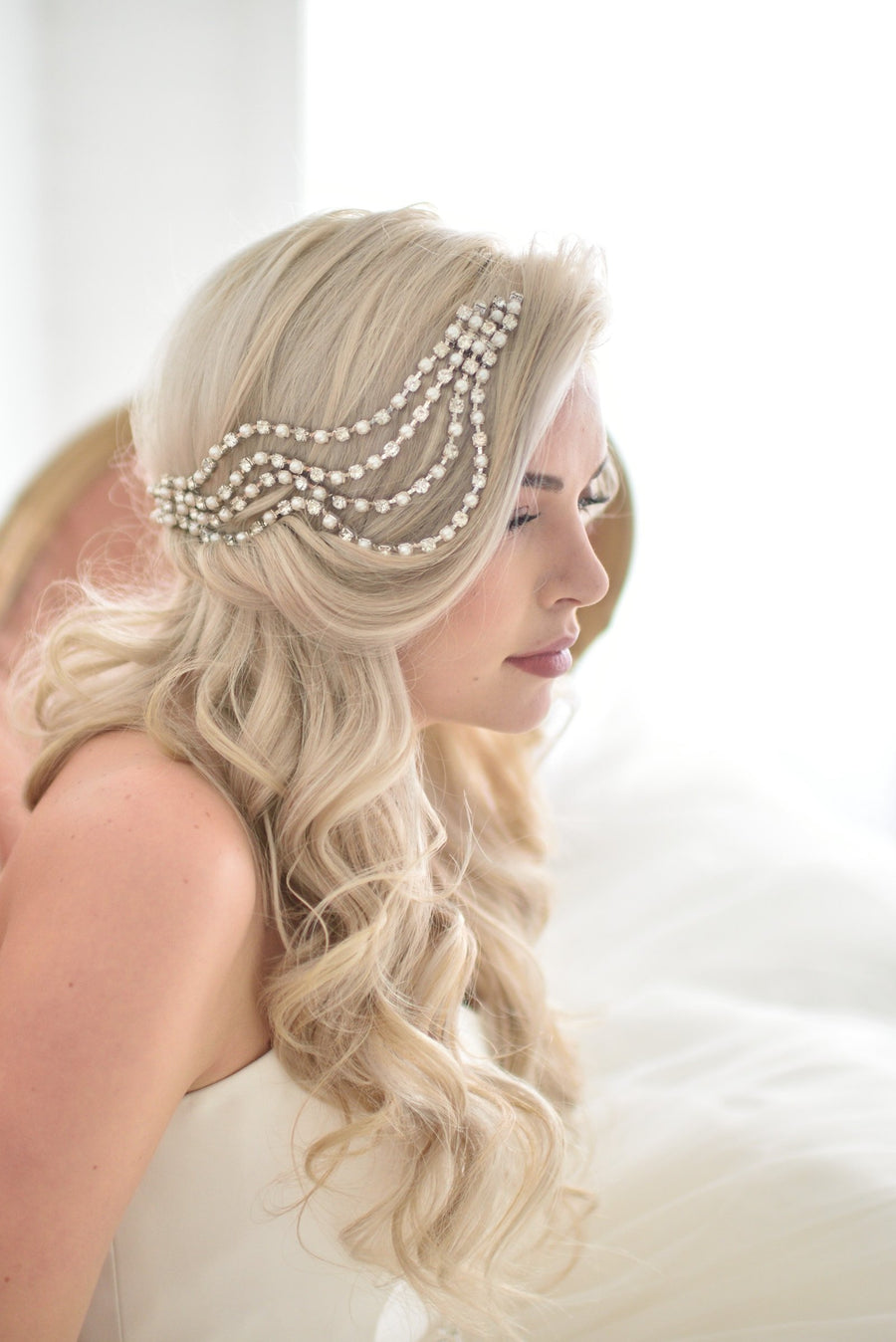 Ripple Headpiece in Gold - Style #201