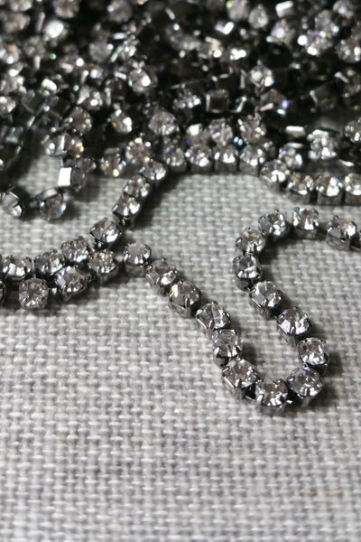 Danani | Draped Crystal Pins in Gunmetal/Crystal - Style #211