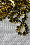 Danani | Draped Crystal Pins in Gold/Black - Style #211