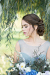 Danani | Double Draped V Headpiece - Style #225 | Kristina Curtis Photography
