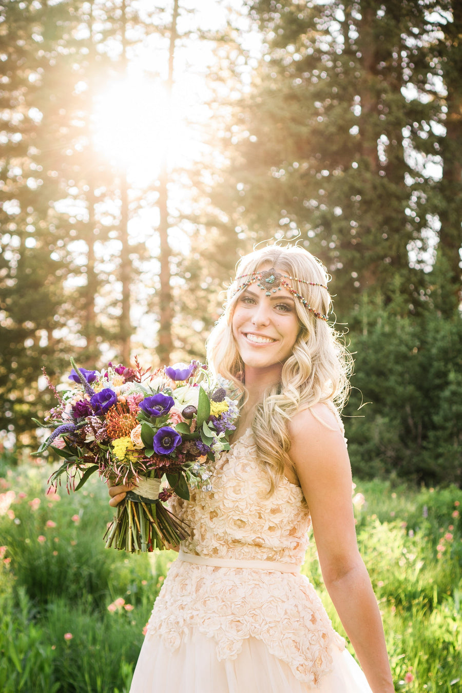 Wildflower Colorful Bohemian Headpiece - Style #442