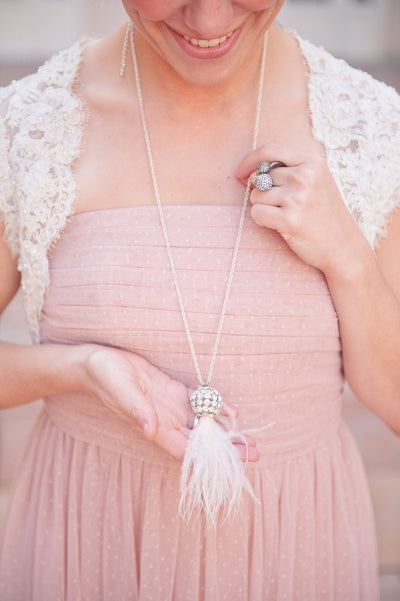 Danani | Ostrich Tassel Necklace - #212 in Ivory | Bit of Ivory Photography