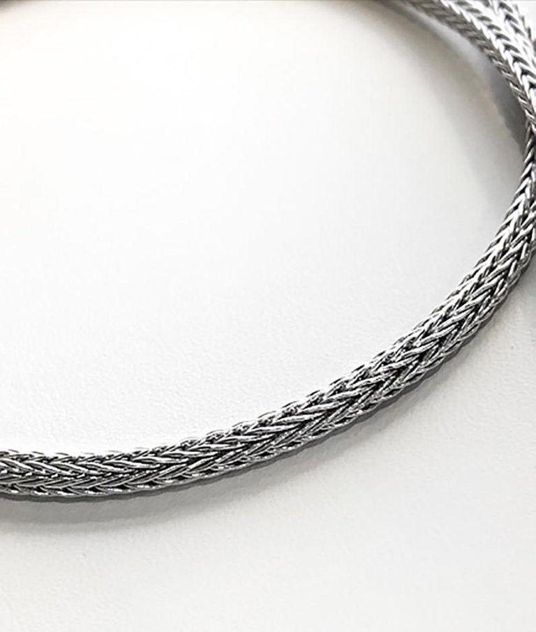 Silver Handwoven Rope medium