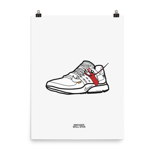 Poster Nike Air Presto Off White - WhiteSneakers Wall Star- accessoires sneakers addict