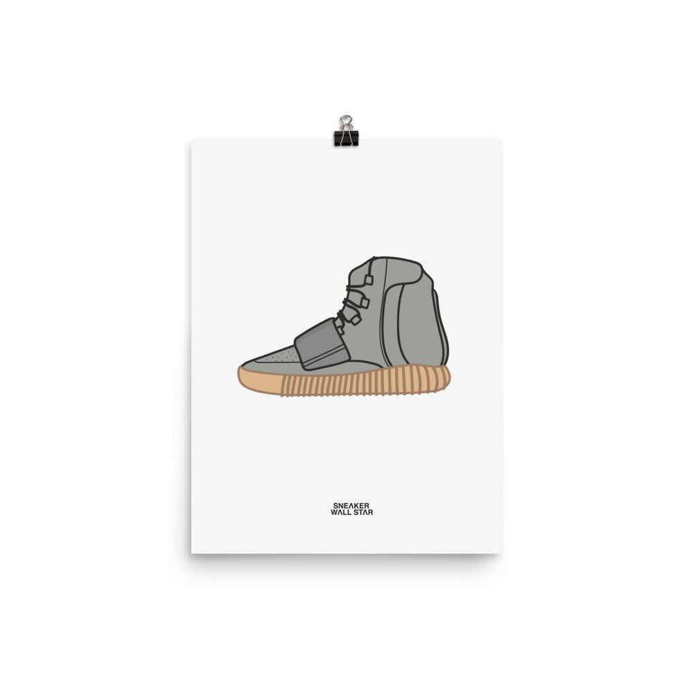 Poster Yeezy 750 GumSneakers Wall Star- accessoires sneakers addict