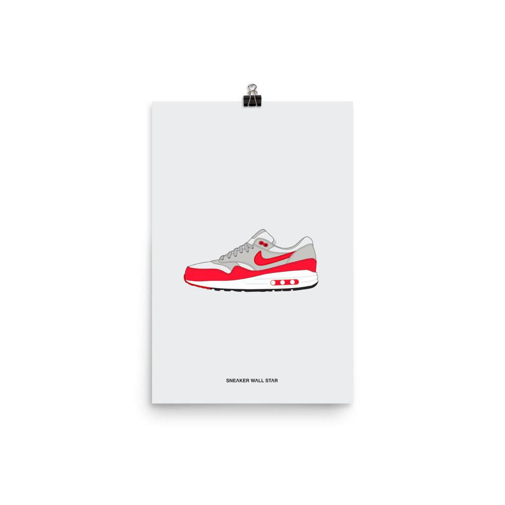 Poster Air Max 1 Anniversary Red OGSneakers Wall Star- accessoires sneakers addict