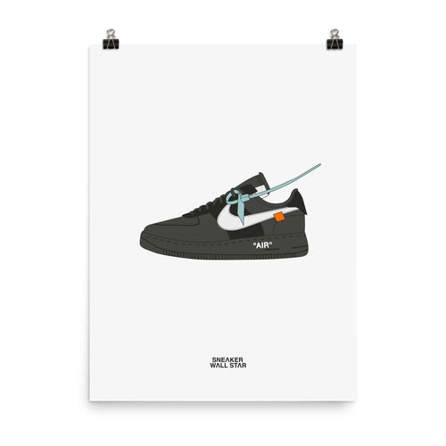 Poster Air Force 1 Black x Off WhiteSneakers Wall Star- accessoires sneakers addict