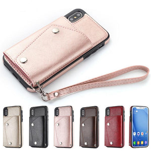 iPhone Retro Wallet Leather Cover Case| Leather Bag | Apple Phone Case