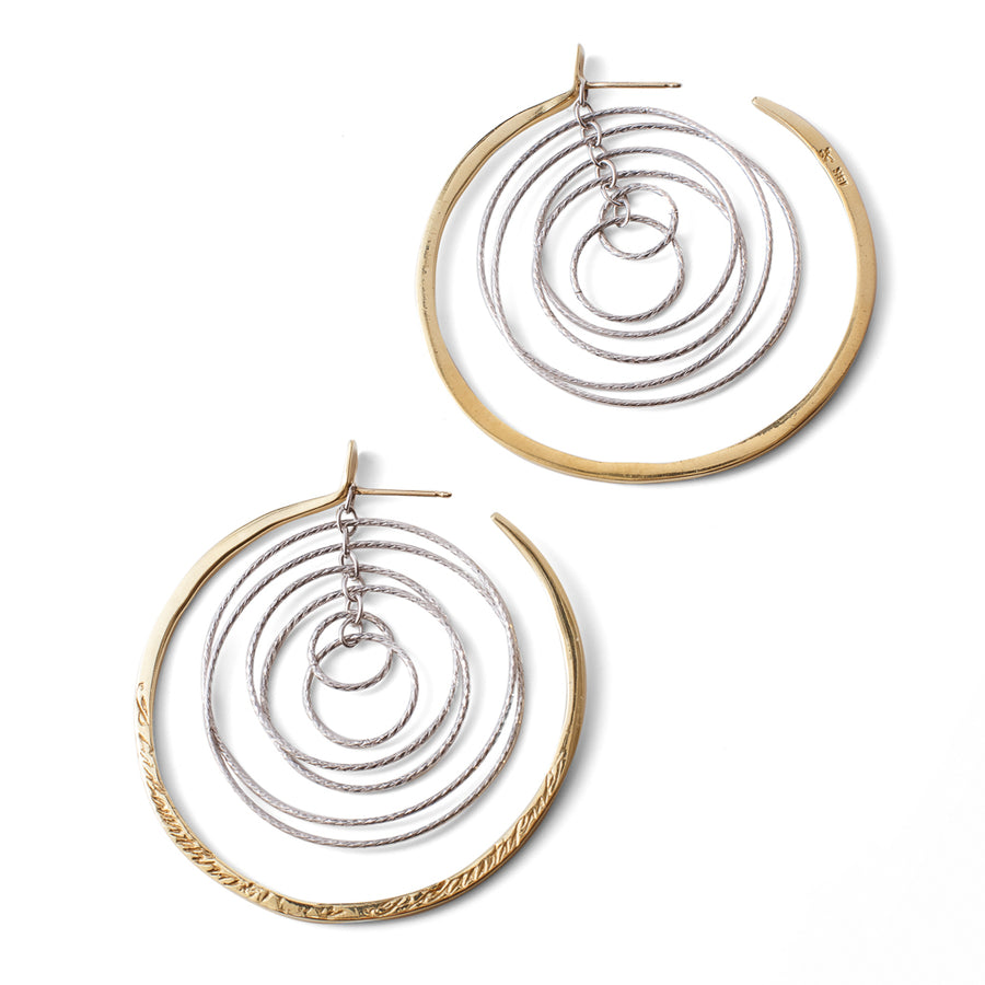 Cosmic Message Hoop Earrings