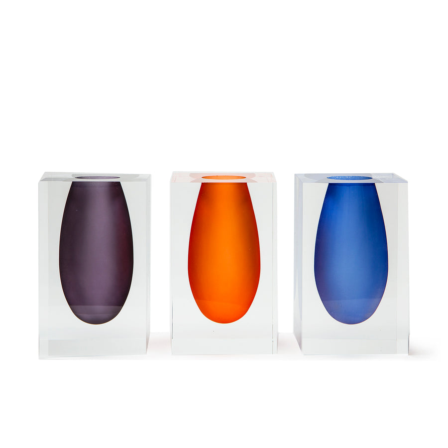 Colorful Lucite Vases
