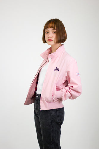 Lonsdale Baby pink Bomber Jacket in Size Small