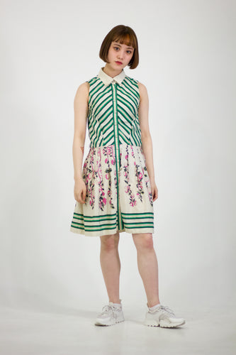 LOUIS VUITTON Silk Summer Dress with Garden Grace Skirt in Size 6