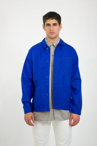 Blue French Work Wear Jacket Size S/M