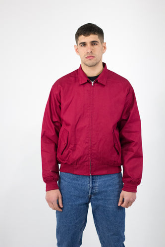Burgundy Harrington Jacket